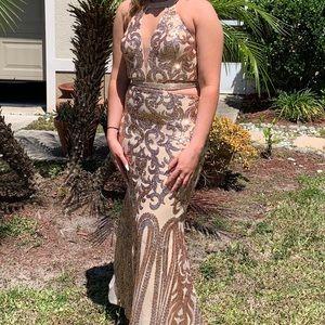 Camille La Vie sequin gown
